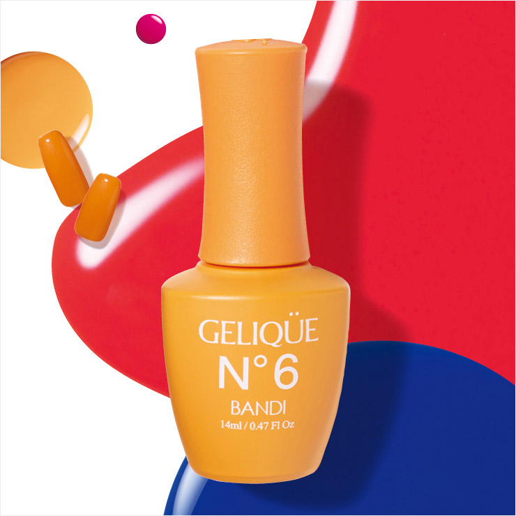 젤리끄 젤컬러코트, GF645 치어링 오렌지, 5만원, Bandi. 팬톤이 공개한 올해의 트렌드 컬러 '리빙 코럴'을 동양인 피부색에 맞게 재조합했다. 비타민처럼 기운이 샘솟는 오렌지 옐로 컬러라 옐로나 그린과 믹스하면 더욱 상큼 발랄하게 연출할 수 있을 것.