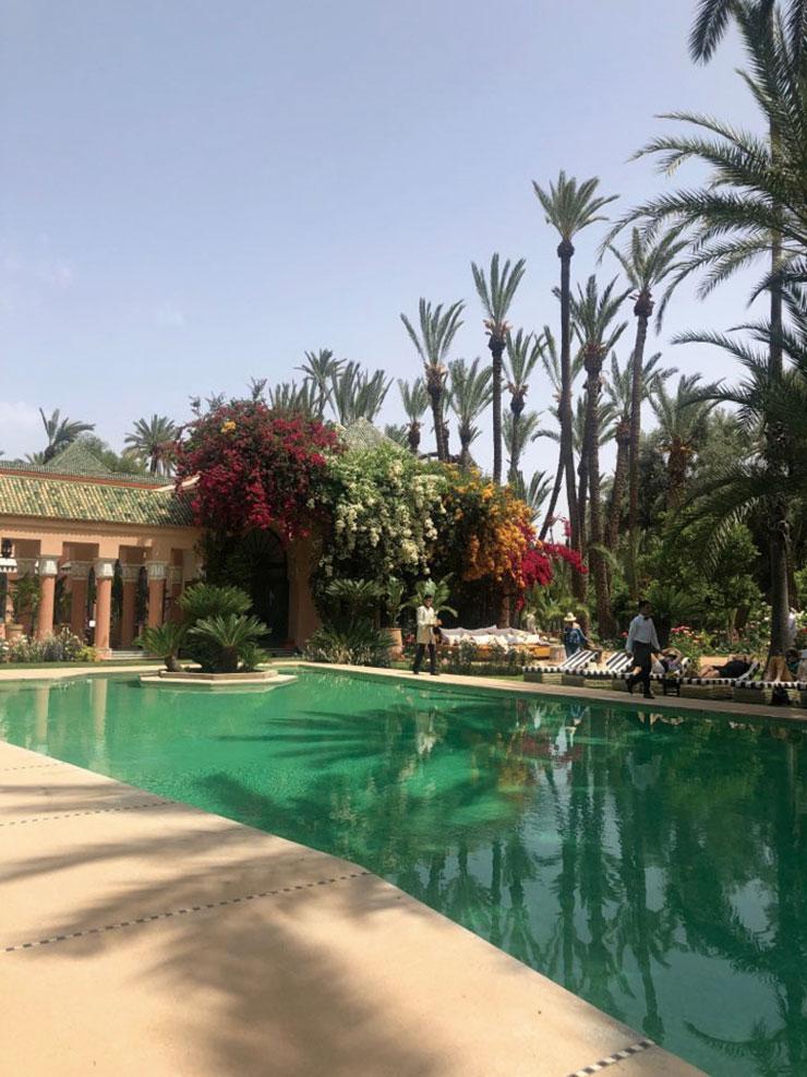 마라케시에서 가장 오래된 집을 개조해 민영화한 빌라 아디(Villa Addi)의 아름다운 수영장. 열대 식물과 꽃으로 가득한 이곳에서 시간 가는 줄 모르고 셔터를 눌러댔다.