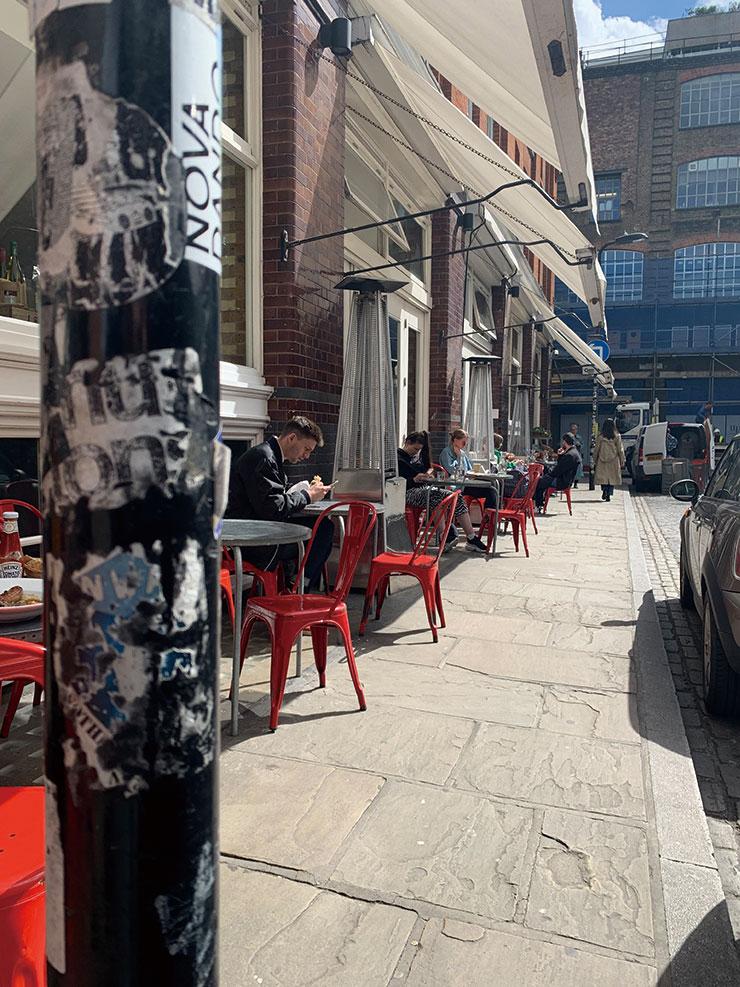 카페테리아에 앉아 광합성을 즐길 수 있는 유기농 카페 알비온(Albion). 다양한 음식 재료와 요거트가 인기 아이템.