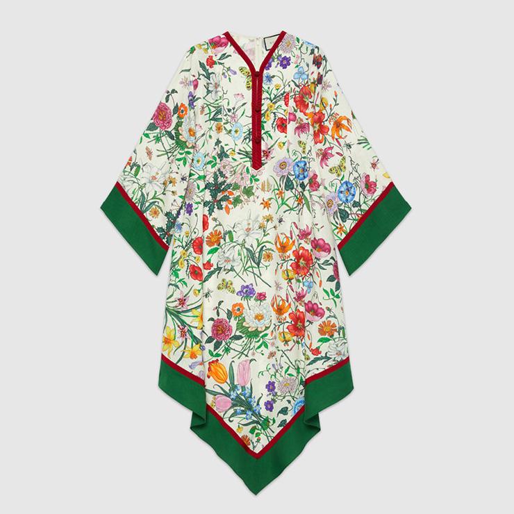 구찌 하우스의 헤리티지를 담은 플로라 프린트 드레스, Gucci.