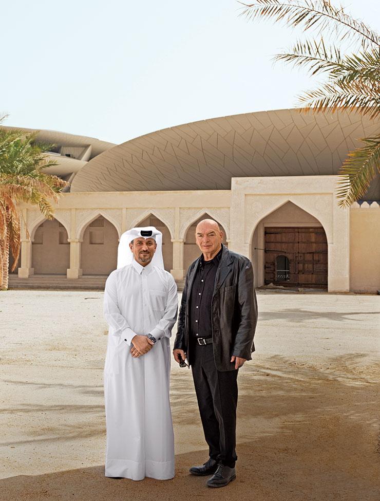 장 누벨과 카타르 박물관청 임시 CEO 아마드 무사 알 나믈라(Ahmad Musa Al-Namla).