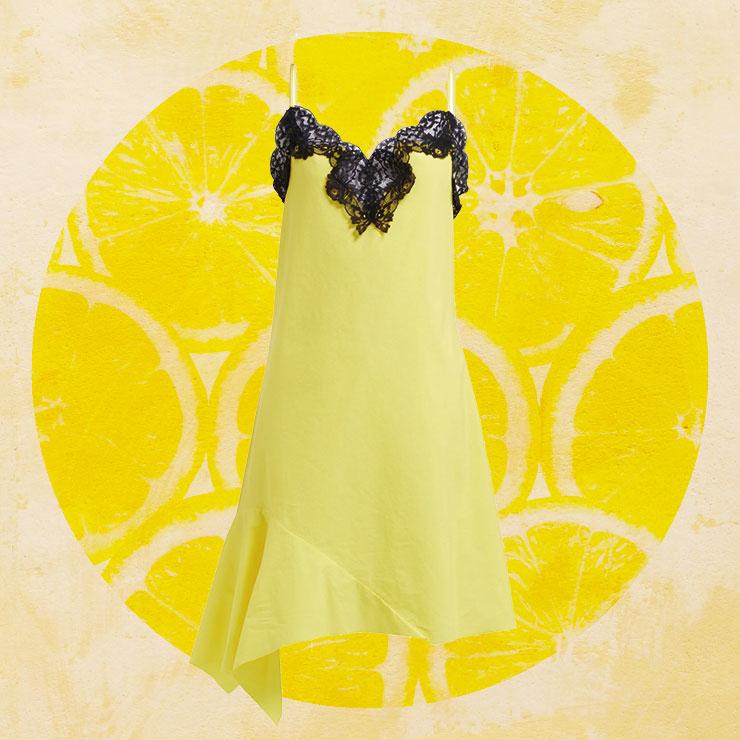 블랙 레이스를 덧댄 슬립 드레스는 32만원대, Marques' Almeida by Matchesfashion.com