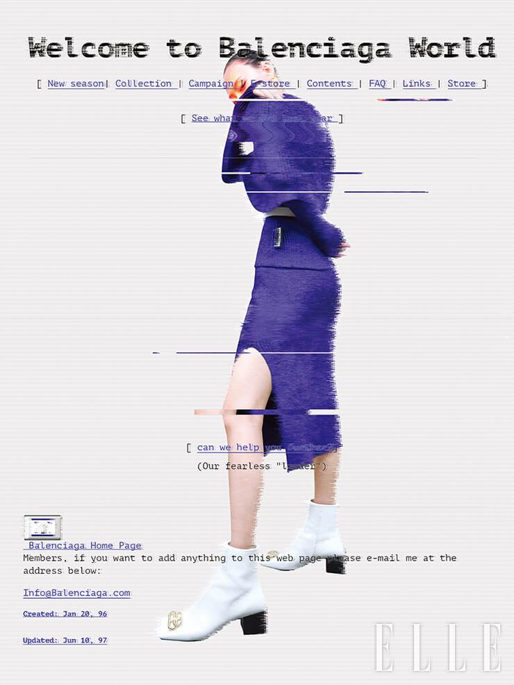 오프숄더 니트와 벨트, 로고 앵클부츠, 볼드한 이어링은 가격 미정, 슬릿 스커트는 1백38만원, 모두 Balenciaga.