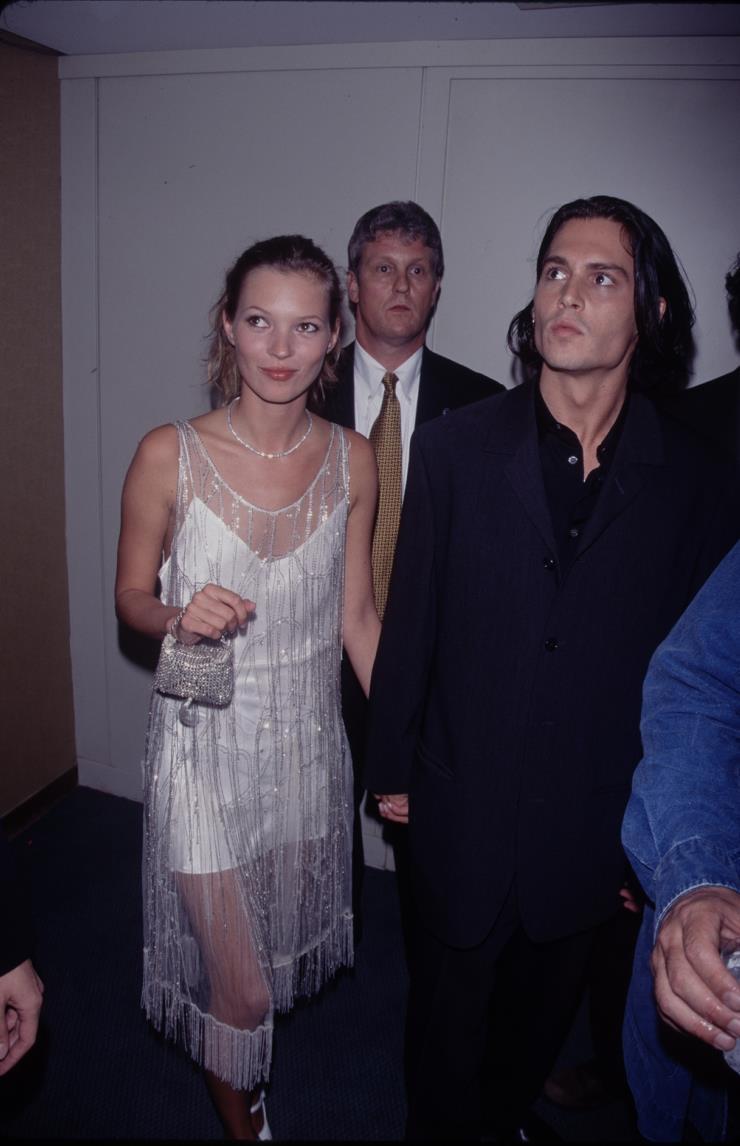 1995년 조니 뎁과 케이트 모스