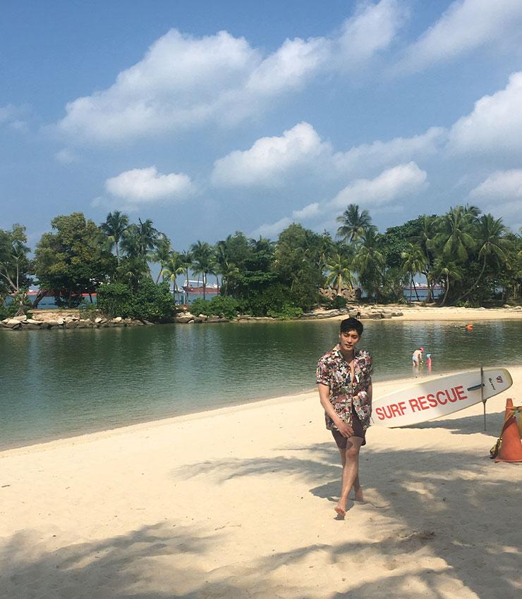 이번 달 성훈 화보를 촬영했던 센토사섬의 팔로완 비치.