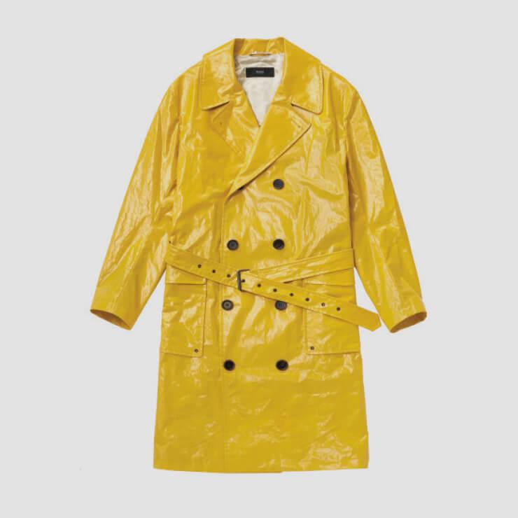 노란색 트렌치코트 가격 미정 휴고보스.