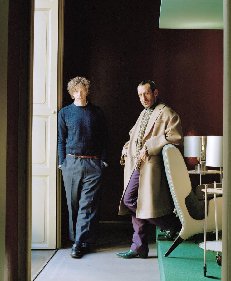 디모레 스튜디오의 듀오 디자이너 에밀리아노 살치와 브릿 모란.
