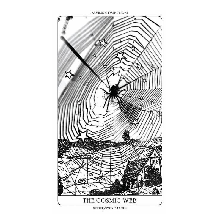 'Arachnomancy Cards', 2019 Card's drawings and reinterpretation based on Duncan, W. (1949). Webs In The Wind. New York: The Ronald Press Company and Bristowe, W. S. (1958). The World of Spiders. London: Collins; Curtis, William, 1746-1799; Marbury, Elizabeth, 1856-1933, donor; Vollrath, F. 1988. Untangling the spider's web. Trends Ecol. Evol. 3(12): 331–335. This deck of cards was made On the occasion of the 58th International Art Exhibition - Biennale Arte 2019. Toma´s Saraceno would like to thank the Arachnophilia archives and his Studio for their endless support in the conceptualization, design and making of these cards. As well thanks to the galleries for all their support: Andersen's, Copenhagen; Ruth Benzacar, Buenos Aires, Tanya Bonakdar Gallery, New York / Los Angeles, Pinksummer Contemporary Art, Genoa, Esther Schipper, Berlin.  Download the Arachnomancy App to help you find other Spider/Web Pavilions and encounter their oracles, joining a collective exercise of mapping against extinction. For more information visit arachnophilia.net, a living archive of coexistences. Courtesy the Artist © Studio Toma´s Saraceno, 2019