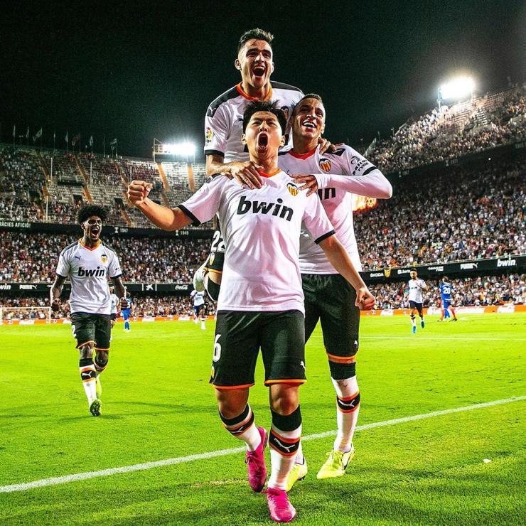 이강인은 26일(오늘) 스페인 프리메라리가에서 첫 골을 기록했다.