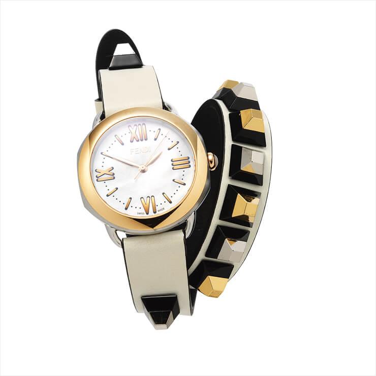 브레이슬렛처럼 연출 가능한 워치는 가격 미정, Fendi Timepiece by Gallery O'clock.