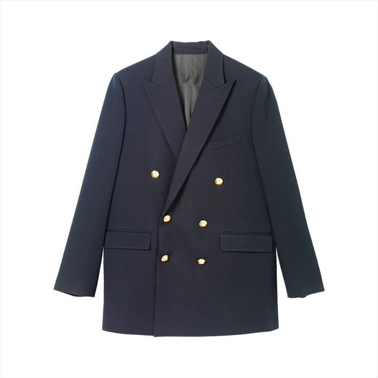 클래식한 더블브레스트 재킷은 가격 미정, Celine by Hedi Slimane.