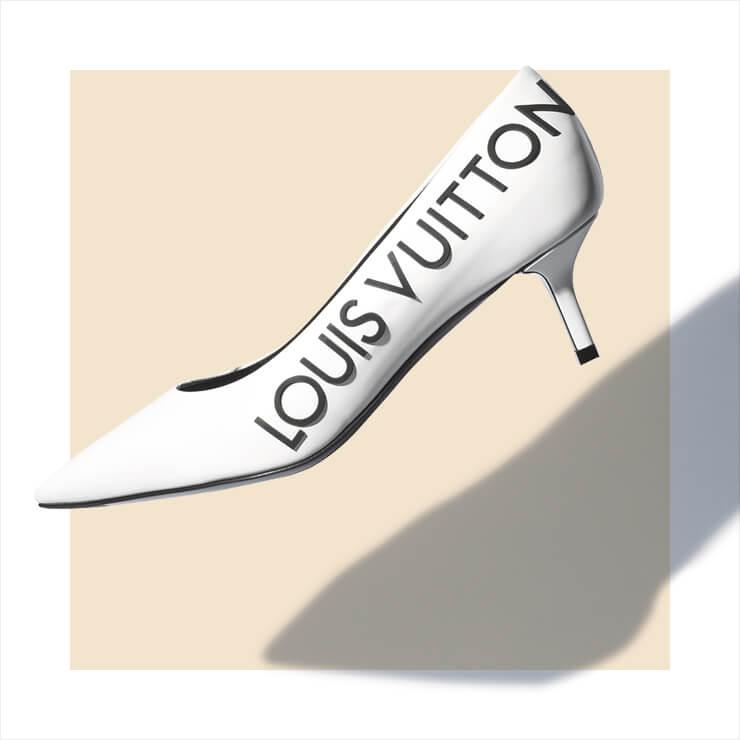 레터링 펌프스는 1백9만원, Louis Vuitton.