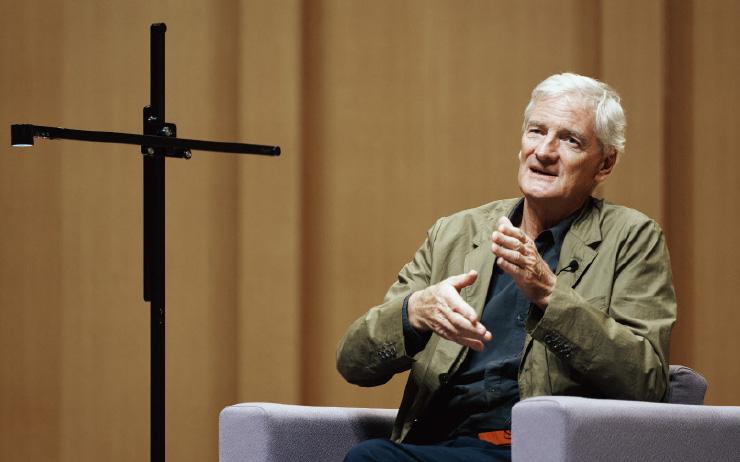 지난 9월 27일 연세대학교 백주년기념관 콘서트홀에서 열린 '글로벌 CEO 톡' 행사에 참석한 제임스 다이슨.
