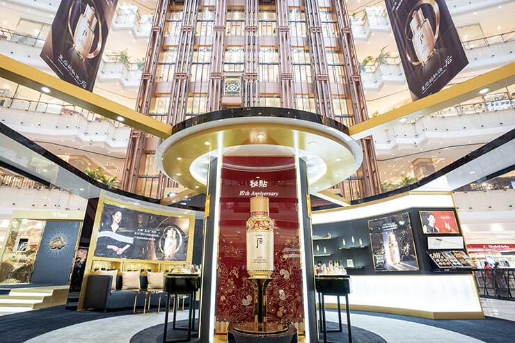 후의 위상을 드높인 신세계 백화점 팝업 스토어.