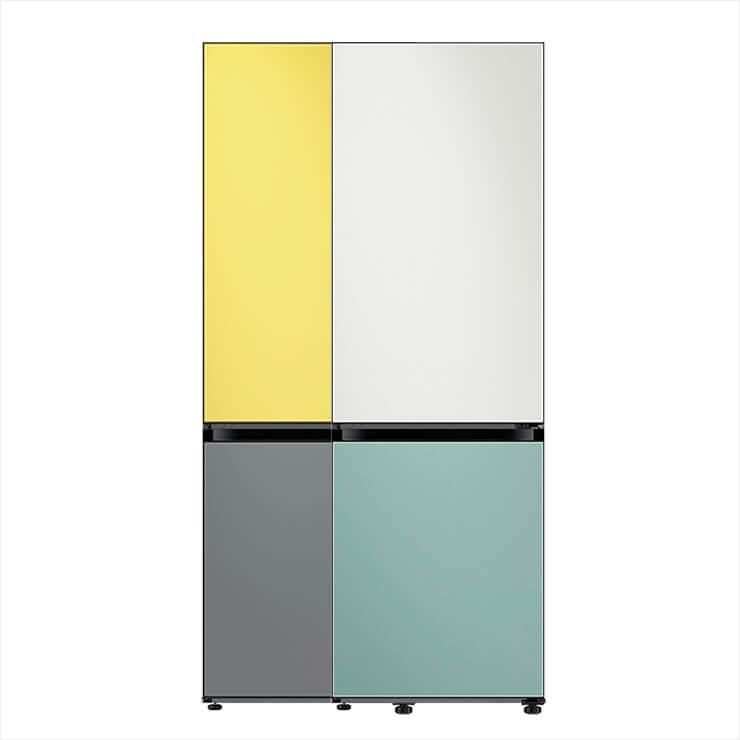 기능과 소재, 컬러 등 모든 게 커스터마이징이 가능한 삼성 '비스포크'는 분명 냉장고 역사를 새로 쓰고 있다. 추가 모듈을 구매해 크기와 기능을 무한 확장하는 것도 가능. 약 1백5만원부터, Samsung Electronics.