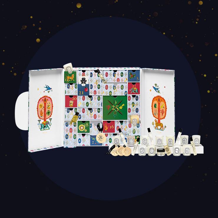 diptyque 2019 홀리데이 럭키 참 컬렉션 크리스마스 어드벤트 캘린더, 가격 미정.(국내 미런칭)