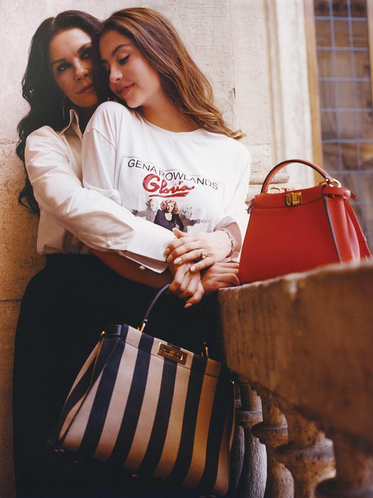 로마에서 만난 배우 캐서린 제타 존스와 그녀의 딸