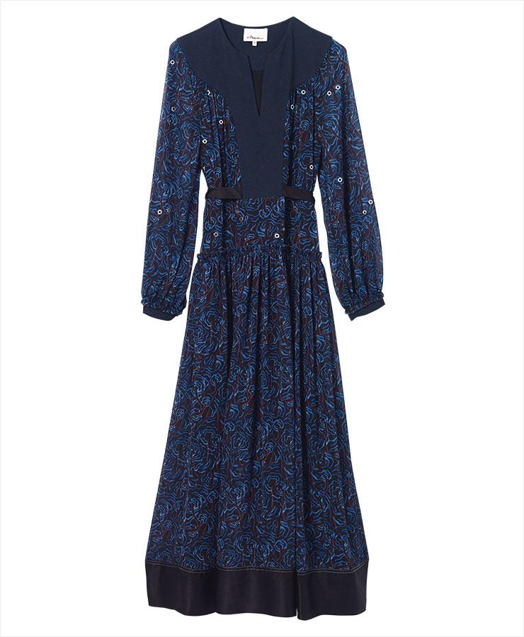 추상적인 프린트의 시폰 드레스는 1백65만원, 3.1 Phillip Lim.