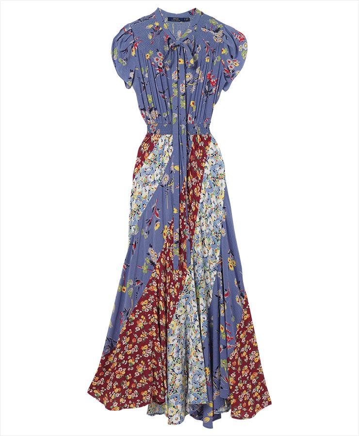 패치워크 장식의 플로럴 드레스는 1백10만원대, Polo Ralph Lauren.
