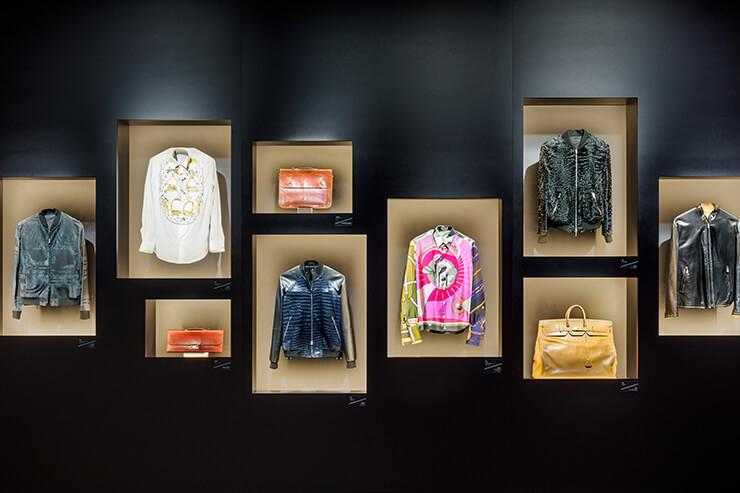 과거 에르메스 제품을 전시한 부스. 빈티지 가방의 가죽은 몇십 년이 지났음에도 여전히 짱짱해 보였다.