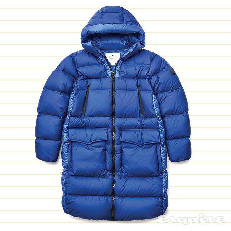 파란색 롱 다운 코트 159만원 울리치 by 비이커.