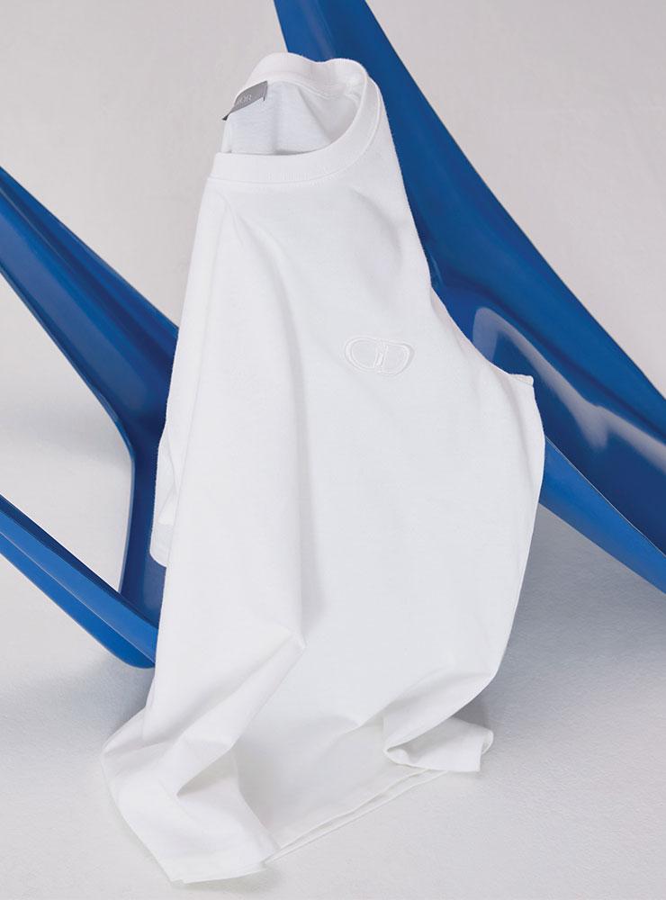 흰색 로고 티셔츠 가격 미정 디올 맨.