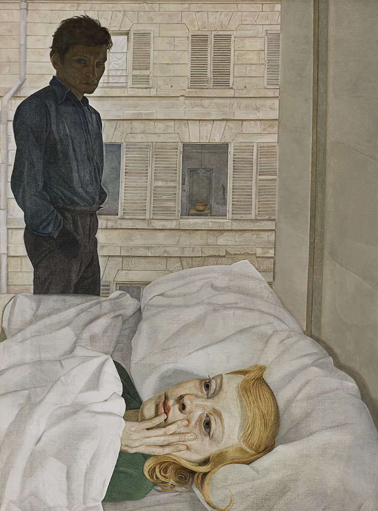 〈Hotel Bedroom〉(1954), Oil on canvas, 91.5x61cm. The Beaverbrook Foundation, Beaverbrook Art Gallery, Fredericton. Gift of the Beaverbrook Foundation, collection of the Beaverbrook Art Gallery