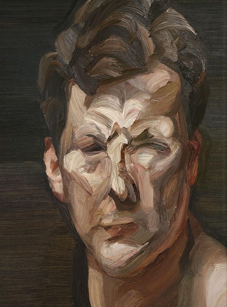 〈Man's Head (Self-portrait III)〉(1963), Oil on canvas, 30.5x25.1cm. National Portrait Gallery, London