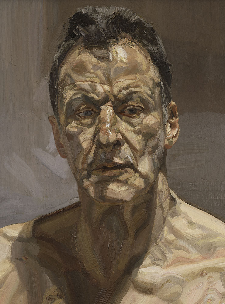〈Reflection (Self-portrait)〉(1985), Oil on canvas, 55.9x55.3cm. Private collection, on loan to the Irish Museum of Modern Art
