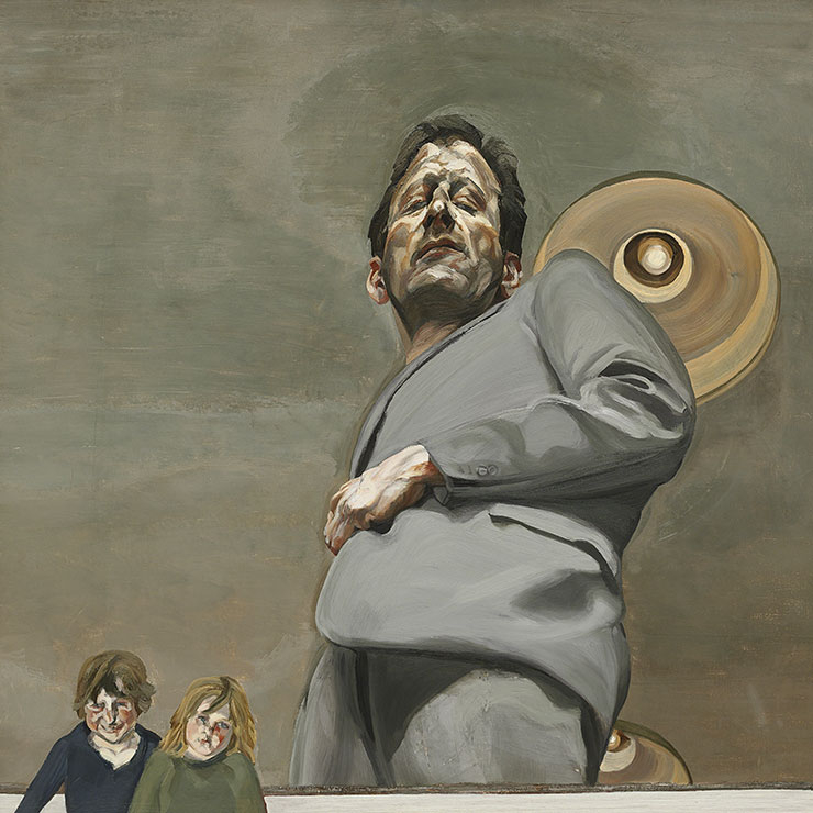 〈Reflection with Two Children (Self-portrait)〉(1965), Oil on canvas, 91x91cm. Museo Nacional Thyssen-Bornemisza, Madrid