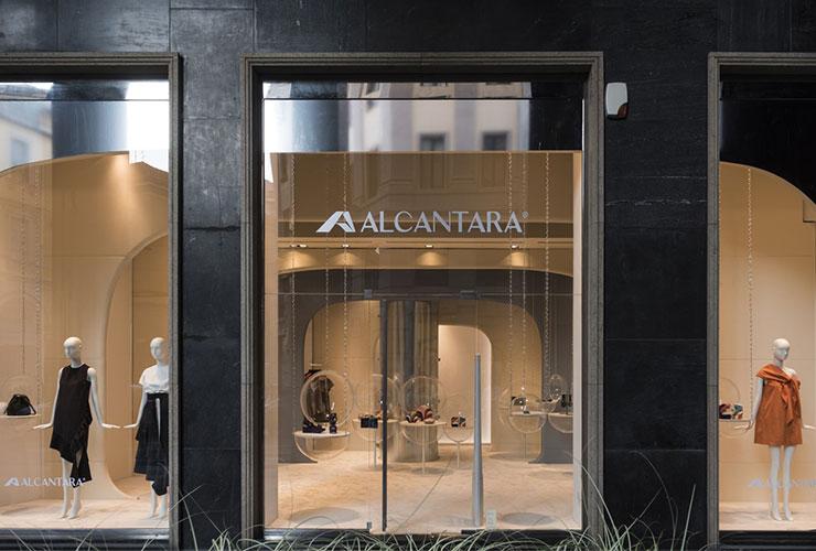 밀라노 비아 피에트로 거리에 위치한 알칸타라 콘셉트 스토어.