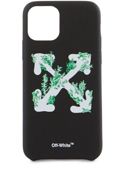 브랜드의 시그너처 그래픽 패턴을 활용한 아이폰 11 케이스 Off-White by 24s.com, €70 (한화 9만원대)