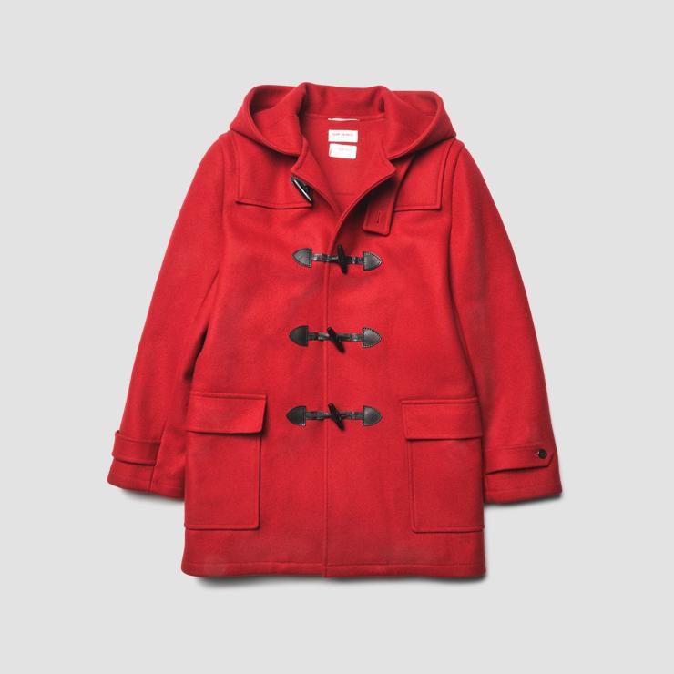 빨간색 더플코트 가격 미정 생 로랑 by 안토니 바카렐로.