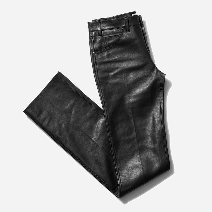 블랙 레더 팬츠 가격 미정 셀린느 by 에디 슬리먼.