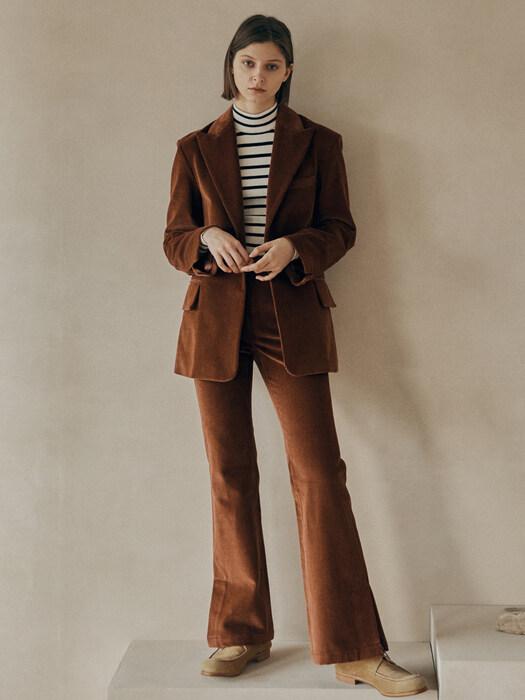 [FRONTROW X MAISONMARAIS] Corduroy Blazer + Bootcut Trousers