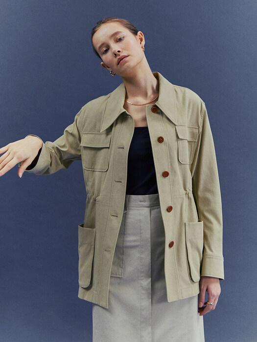 [Classy Cotton] Safari String Jacket