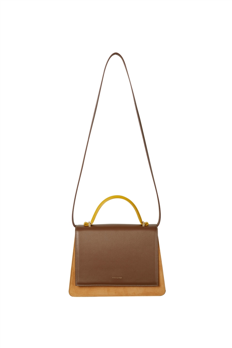 EMILY TRAPEZOID TOTE BAG aaa080w(BROWN)