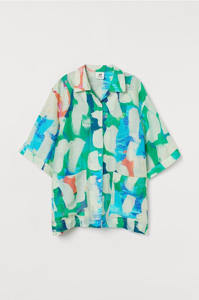 패턴 캠프 셔츠
