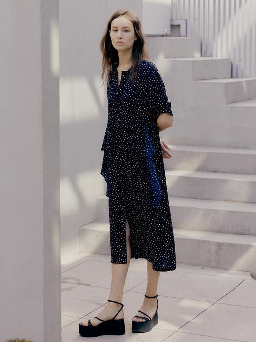Waist Point Dot Dress