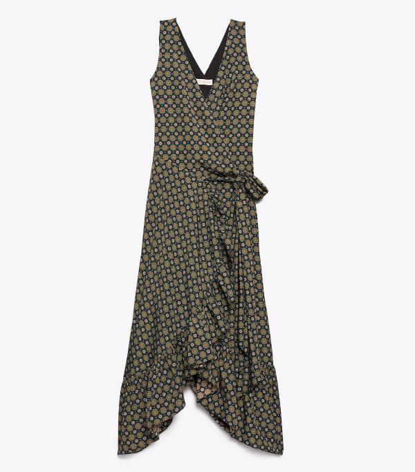 러플 랩 드레스