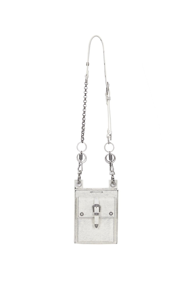 UNISEX MONTEREY LEATHER BAG aaa250u(WHITE)