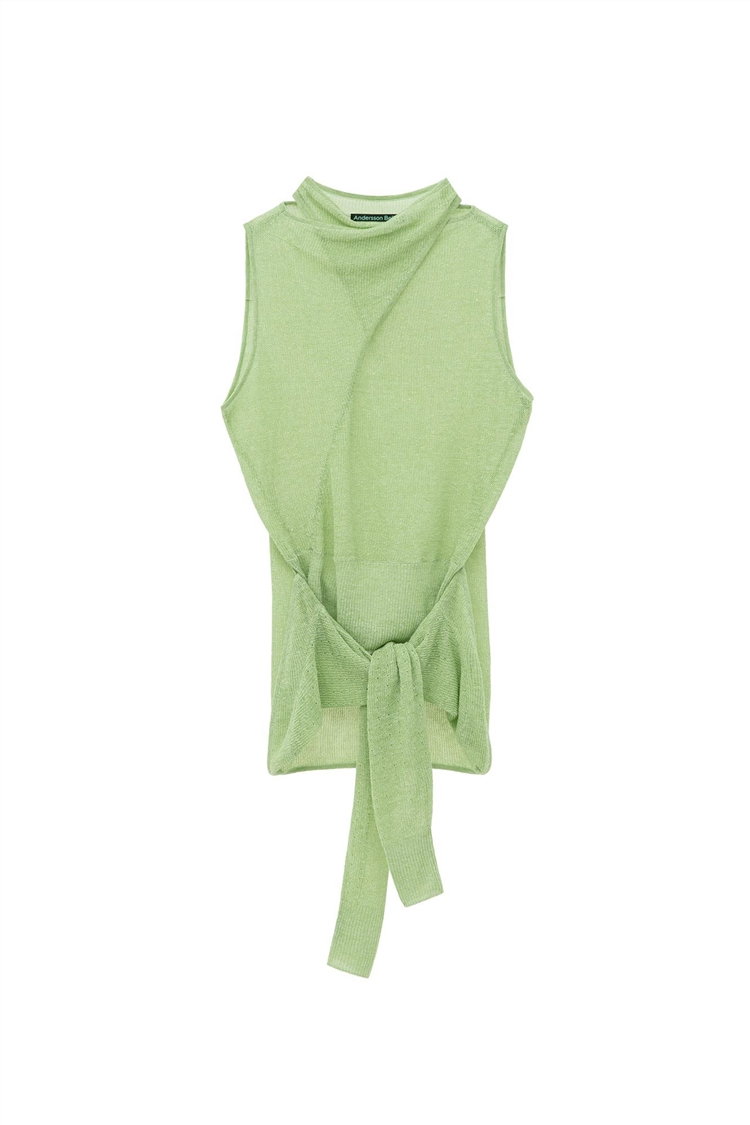 JANE SLEEVELESS CARDIGAN KNIT atb500w(JADE)