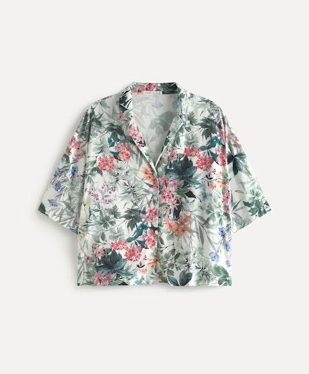 와일드 플라워 반소매 셔츠