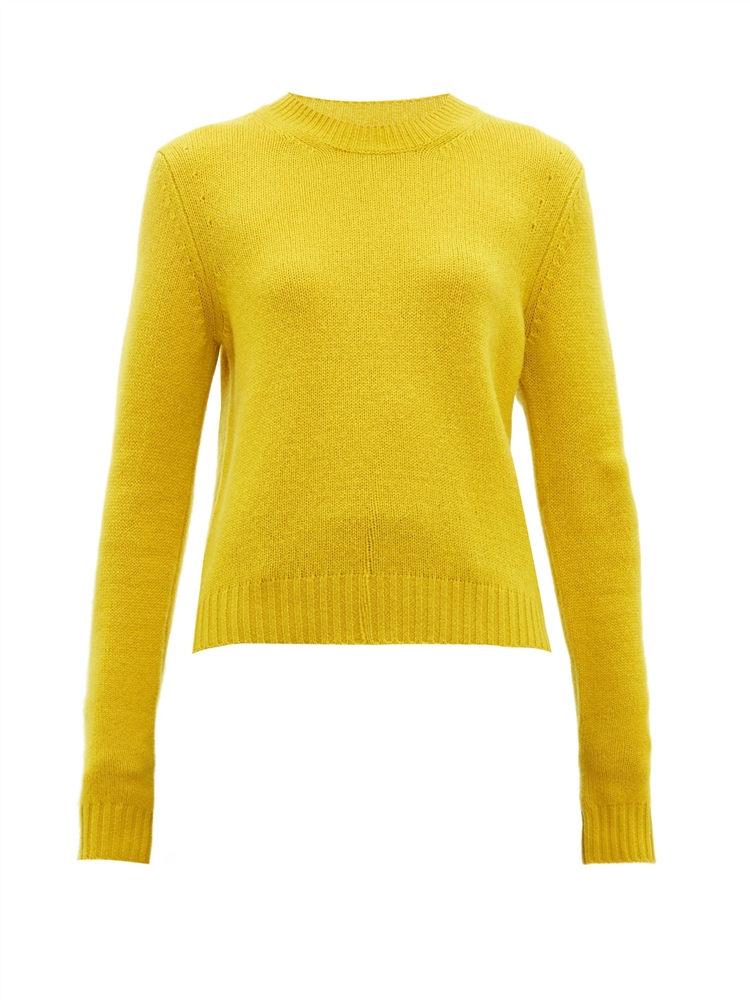 Exaggerated-sleeve cashmere-blend sweater