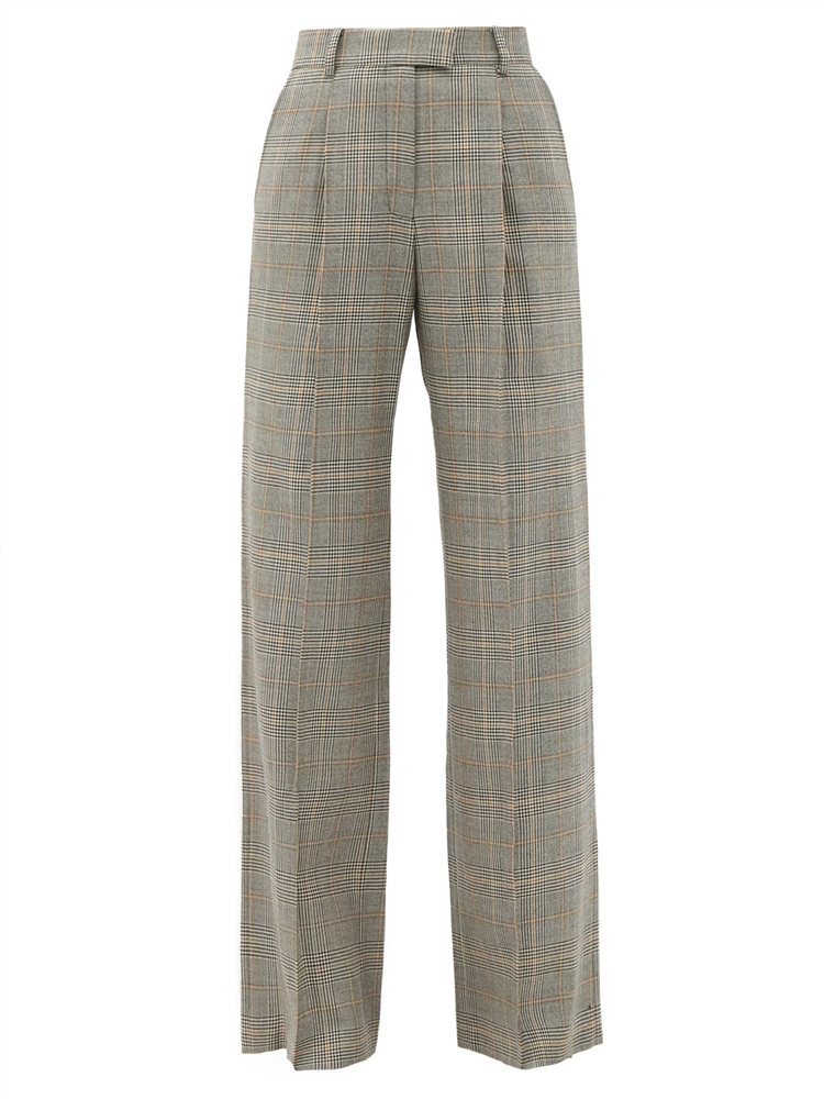 Angie Prince of Wales wool side-leg trousers