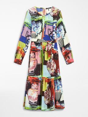 카지노 실크 크레이프 드 신 드레스