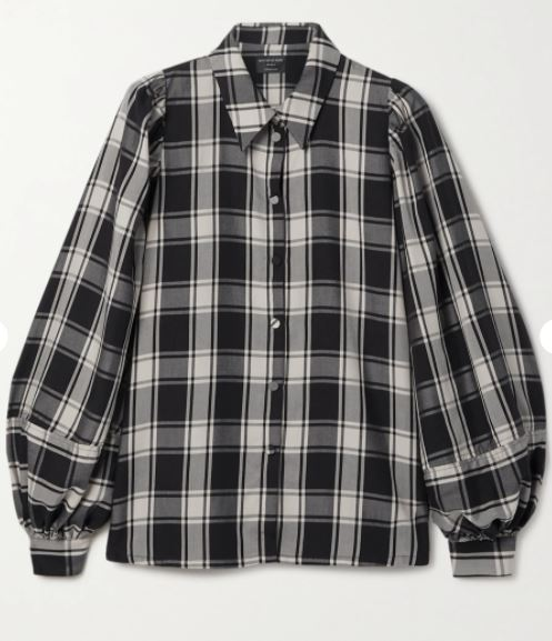 Tegan checked Lyocell shirt