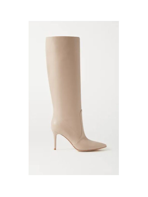 Gianvito Rossi - 85 Leather Knee Boots - Neutral