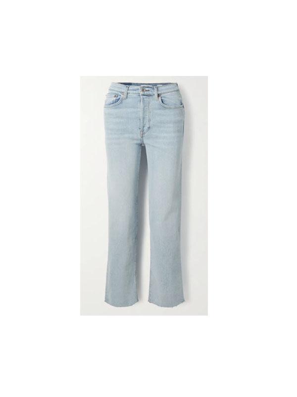 RE/DONE - Originals Stove Pipe Comfort Stretch High-rise Straight-leg Jeans - Light denim