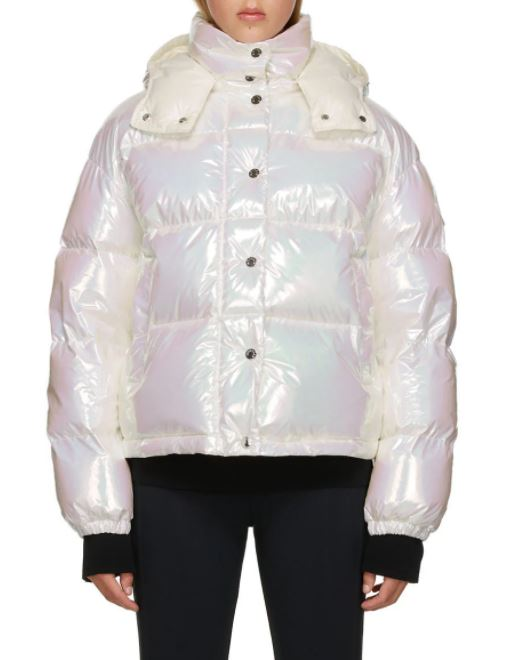 White Down Iridescent Daos Jacket